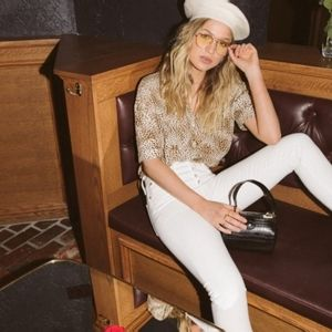Levi's Premium 501 Skinny White Distressed Jeans
